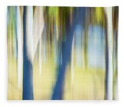 Abstract Moving Trees 30 Fleece Blanket