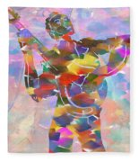 Abstract Musican Guitarist Fleece Blanket