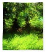 Abstract Nature 834 Fleece Blanket
