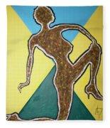 Abstract Nude Ebony In Heels Fleece Blanket
