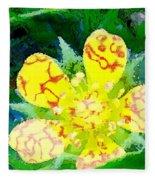 Abstract Of A Wild Buttercup Flower Fleece Blanket