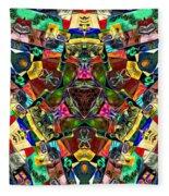 Abstract Of Abundant Colors Fleece Blanket