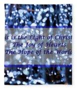 Abstract Of Blue Lights Text Fleece Blanket