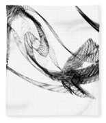 Abstract Of Dolphins In Courting Ritual Fleece Blanket