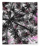 Abstract Of Ever Green Bush Fleece Blanket