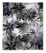 Abstract Of Low Growing Evergreen Shrub Fleece Blanket