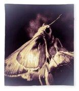 Abstract Of Skipper Butterfly Fleece Blanket