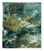 Abstract Of The Underwater World. Production By Nature Fleece Blanket