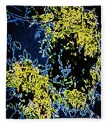 Abstract Of Tree And Leaves Fleece Blanket