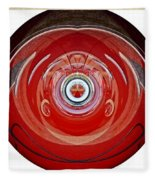 Abstract Old Car Framed Fleece Blanket