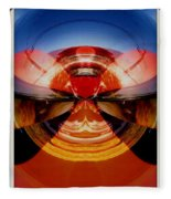 Abstract Old Car Spare Tire Fleece Blanket