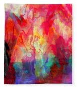 Abstract Painting Fleece Blanket