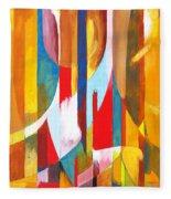 Abstract Painting Fleece Blanket