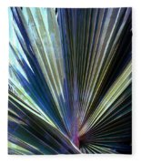 Abstract Palm Leaf Fleece Blanket