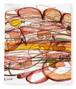 Abstract Pen Drawing Eight Fleece Blanket