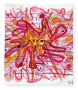 Abstract Pen Drawing Fifteen Fleece Blanket