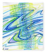 Abstract Pen Drawing Forty Fleece Blanket