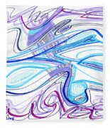Abstract Pen Drawing Forty-two Fleece Blanket