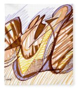 Abstract Pen Drawing Nine Fleece Blanket