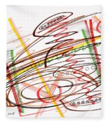 Abstract Pen Drawing Seven Fleece Blanket
