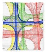 Abstract Pen Drawing Seventeen Fleece Blanket