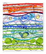 Abstract Pen Drawing Sixteen Fleece Blanket
