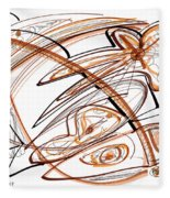 Abstract Pen Drawing Ten Fleece Blanket