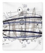Abstract Pen Drawing Thirty-four Fleece Blanket