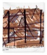 Abstract Pen Drawing Twelve Fleece Blanket