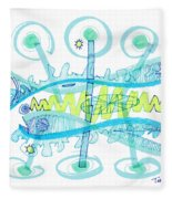 Abstract Pen Drawing Twenty-five Fleece Blanket