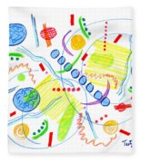 Abstract Pen Drawing Twenty-seven Fleece Blanket