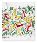 Abstract Pen Drawing Twenty-two Fleece Blanket