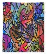 Abstract Pen Fleece Blanket