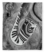 Piano Keys In A Saxophone 1 - Music In Motion Fleece Blanket