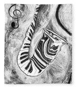 Piano Keys In A Saxophone 2 - Music In Motion Fleece Blanket