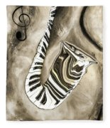 Piano Keys In A Saxophone 3 - Music In Motion Fleece Blanket