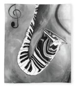 Piano Keys In A Saxophone 4 - Music In Motion Fleece Blanket