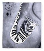 Piano Keys In A Saxophone 5 - Music In Motion Fleece Blanket