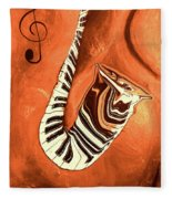 Piano Keys In A Saxophone - Music In Motion Fleece Blanket