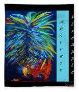 Abstract Pineapple Fleece Blanket