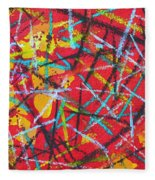 Abstract Pizza 2 Fleece Blanket