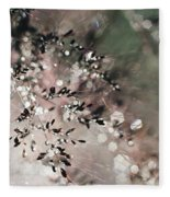 Abstract Plant Fleece Blanket