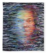 Abstract Portrait Fleece Blanket
