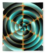 Abstract Radial Object Fleece Blanket