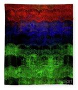 Abstract Rainbow Fleece Blanket