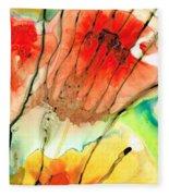 Abstract Red Art - The Promise - Sharon Cummings Fleece Blanket