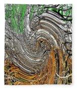 Abstract Reeds Fleece Blanket
