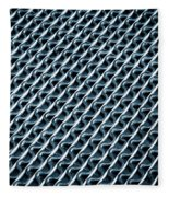 Abstract Rubber And Iron Mat Fleece Blanket