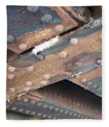 Abstract Rust 2 Fleece Blanket