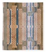 Wood And Blue Fleece Blanket